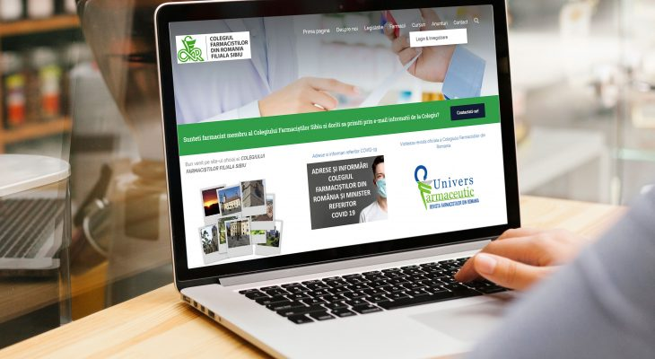 Website Colegiul Farmacistilor Sibiu